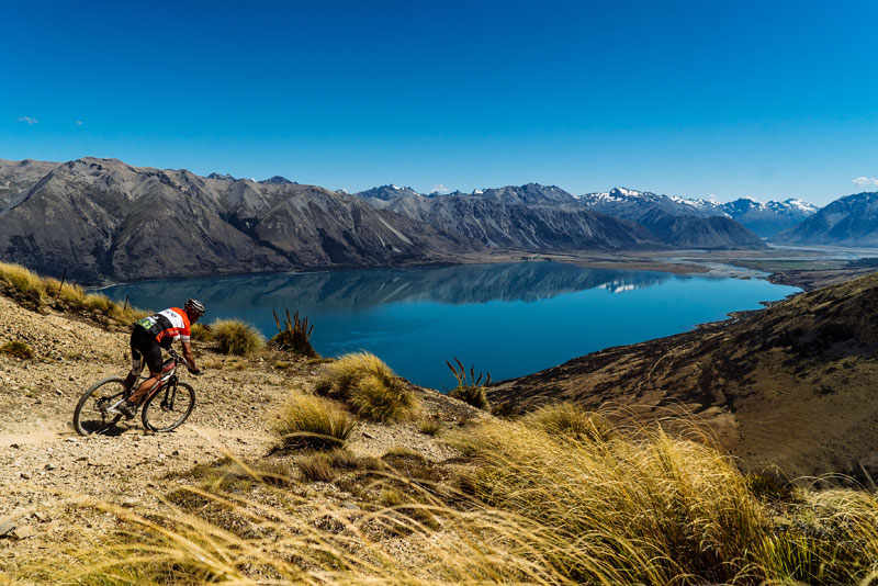 trail cycling - new zealand summer