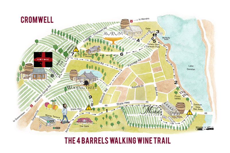 4 Barrels Map - Wine Trail